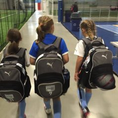 girls with backpacks